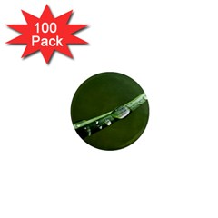 Grass Drops 1  Mini Button Magnet (100 Pack) by Siebenhuehner