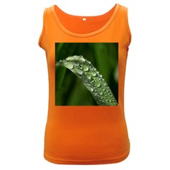 Grass Drops Womens  Tank Top (dark Colored) by Siebenhuehner