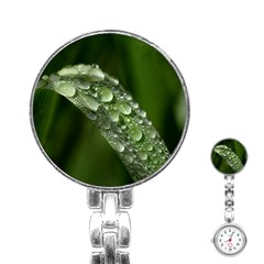 Grass Drops Stainless Steel Nurses Watch by Siebenhuehner