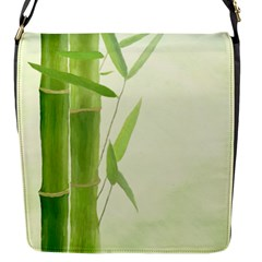 Bamboo Flap Closure Messenger Bag (small) by Siebenhuehner