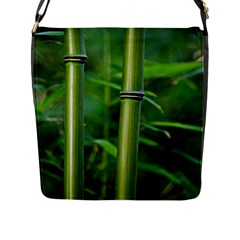 Bamboo Flap Closure Messenger Bag (large) by Siebenhuehner