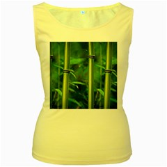 Bamboo Womens  Tank Top (yellow) by Siebenhuehner