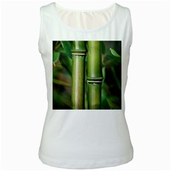 Bamboo Womens  Tank Top (white) by Siebenhuehner