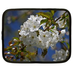 Cherry Blossom Netbook Sleeve (large) by Siebenhuehner