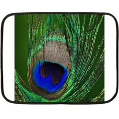 Peacock Mini Fleece Blanket (two Sided) by Siebenhuehner