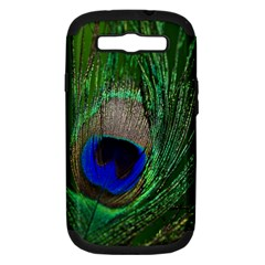 Peacock Samsung Galaxy S Iii Hardshell Case (pc+silicone) by Siebenhuehner