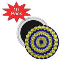 Mandala 1 75  Button Magnet (10 Pack) by Siebenhuehner