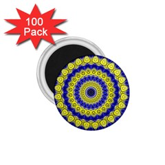 Mandala 1 75  Button Magnet (100 Pack) by Siebenhuehner