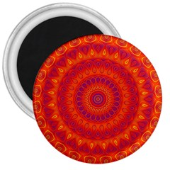 Mandala 3  Button Magnet by Siebenhuehner