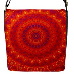 Mandala Flap Closure Messenger Bag (small) by Siebenhuehner