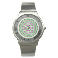 Mandala Stainless Steel Watch (slim)