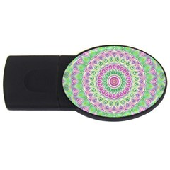Mandala 4gb Usb Flash Drive (oval) by Siebenhuehner
