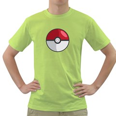 Pokeball Mens  T Shirt (green)