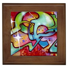 Graffity Framed Ceramic Tile by Siebenhuehner