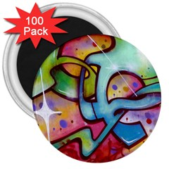 Graffity 3  Button Magnet (100 Pack) by Siebenhuehner