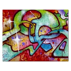 Graffity Jigsaw Puzzle (rectangle) by Siebenhuehner