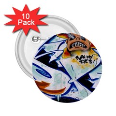 Graffity 2 25  Button (10 Pack) by Siebenhuehner