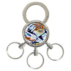 Graffity 3 Ring Key Chain by Siebenhuehner