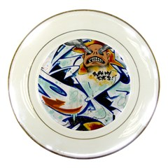 Graffity Porcelain Display Plate by Siebenhuehner