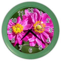 Flower Wall Clock (color) by Siebenhuehner