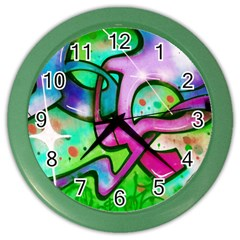Graffity Wall Clock (color) by Siebenhuehner