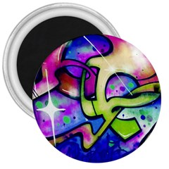 Graffity 3  Button Magnet by Siebenhuehner