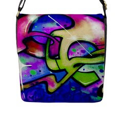 Graffity Flap Closure Messenger Bag (large) by Siebenhuehner