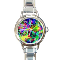 Graffity Round Italian Charm Watch by Siebenhuehner