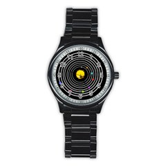 Solar System Sport Metal Watch (black) by PaolAllen2