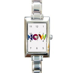 Time Is    Rectangular Italian Charm Watch