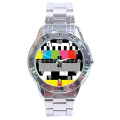Test Pattern Stainless Steel Watch