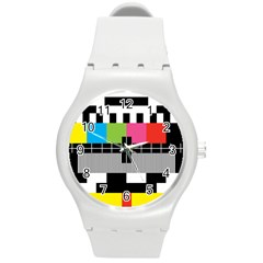 Test Pattern Plastic Sport Watch (medium)