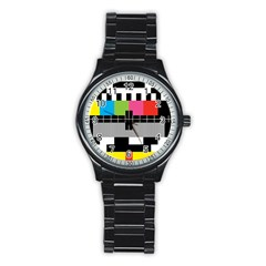 Test Pattern Sport Metal Watch (black)