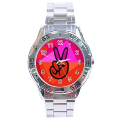 Love Peace Stainless Steel Watch