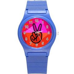 Love Peace Plastic Sport Watch (small)