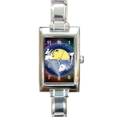 Fishing Dead Rectangular Italian Charm Watch