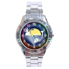 Fishing Dead Stainless Steel Watch