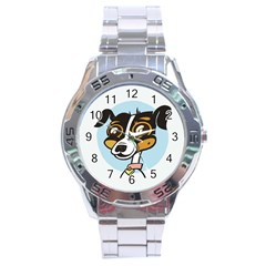 Danny Dog Stainless Steel Watch