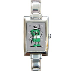 Don t Waste Your Time    Rectangular Italian Charm Watch by Contest1771648