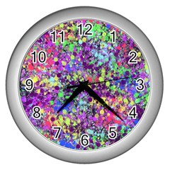 Fantasy Wall Clock (silver) by Siebenhuehner