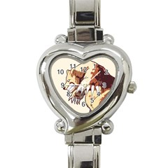 Bear Time Heart Italian Charm Watch  by Contest1780262