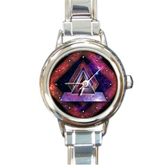 Galaxy Time Round Italian Charm Watch by Contest1775858