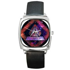 Galaxy Time Square Leather Watch by Contest1775858