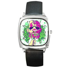 Bozo Zombie Square Leather Watch by Contest1731890