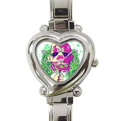 Bozo Zombie Heart Italian Charm Watch