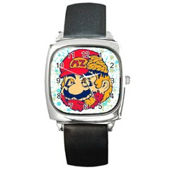 Mario Zombie Square Leather Watch by Contest1731890