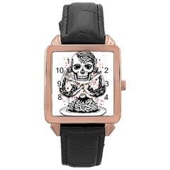 Delicious Rose Gold Leather Watch  by Contest1731890