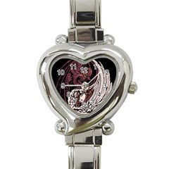 Yinyang Heart Italian Charm Watch