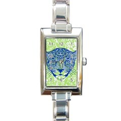 Cheetah Alarm Rectangular Italian Charm Watch by Contest1738807