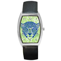 Cheetah Alarm Tonneau Leather Watch by Contest1738807